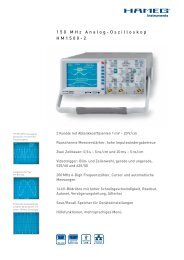 150 MHz Analog-Oszilloskop HM1500-2 - PK elektronik Poppe GmbH