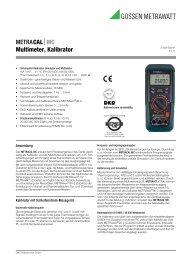 METRACALMC Multimeter, Kalibrator - Gossen-Metrawatt
