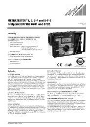 METRATESTER 4, 5, 5-F und 5-FE Prüfgerät DIN VDE 0701 und 0702