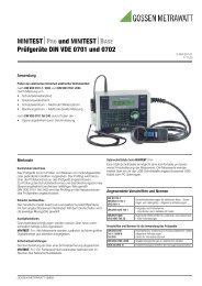 MINITEST⏐PRO und MINITEST⏐BASE Prüfgeräte DIN VDE 0701 ...
