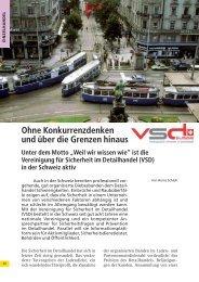Ohne Konkurrenzdenken und über die Grenzen hinaus - VSD Schweiz