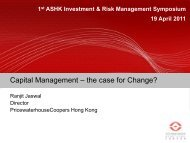 Capital Management - Actuarial Society of Hong Kong