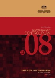 Draft Development Control Plan 12/08 - the National Capital Authority