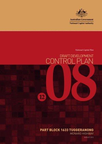 Draft Development Control Plan 12/08 - the National Capital Authority