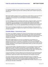 MT Supplier Code of Conduct - Mettler Toledo
