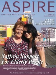 Saffron Support - Aspire Magazine