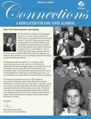 Dear Girl Scout alumnae and friends, - Girl Scouts of Central Illinois