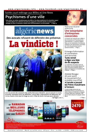 Fr-23-07-201 - Algérie news quotidien national d'information