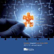 GICS 2011/12 annual report - Grampians Integrated Cancer Service