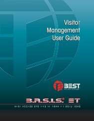 Visitor Management User Guide - Best Access Systems