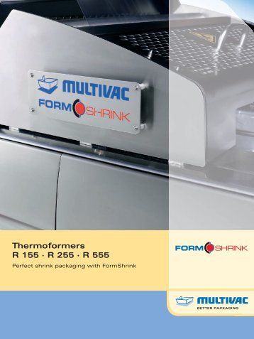 Thermoformers R 155 · R 255 · R 555 - Multivac