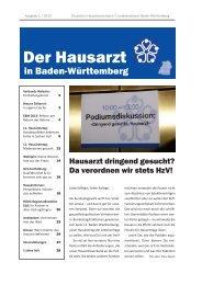 Ausgabe_1/2013 - Deutscher Hausärzteverband Landesverband ...