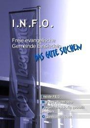 INFO FEG Einsiedeln - Freie Evangelische Gemeinde Einsiedeln