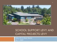 Dual Levies run together improves results - Central Kitsap School ...