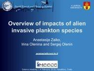 Overview of impacts of alien invasive plankton species - meece