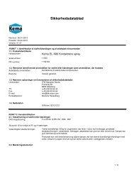 Sikkerhedsdatablad - Itw-scan.com