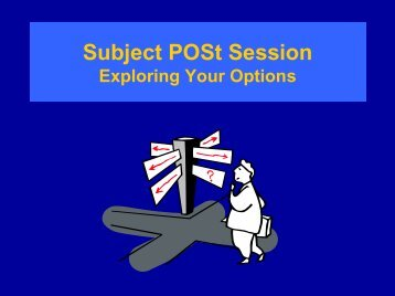 Subject POSt Session