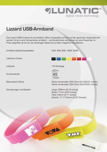 Lizzard USB-Armband