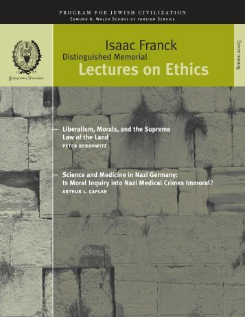Lectures on Ethics - Georgetown University
