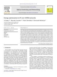 Energy optimization in IP-over-WDM networks