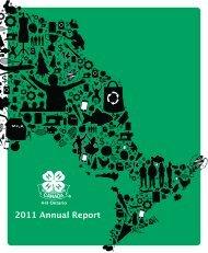 2011 Annual Report - 4-H Ontario