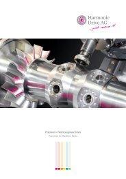 Präzision in Werkzeugmaschinen - Harmonic Drive AG