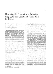 Heuristics for Dynamically Adapting Propagation in Constraint ...