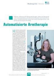 Automatisierte Armtherapie - Harmonic Drive AG