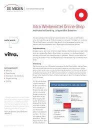 Vitra Werbemittel Online-Shop