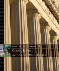 SPP Brochure 8-04 - Gerald R. Ford School of Public Policy ...