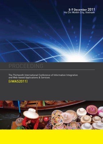 iiWAS2011 Table of Contents - Iiwas.org