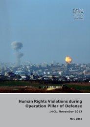 Report - B'Tselem