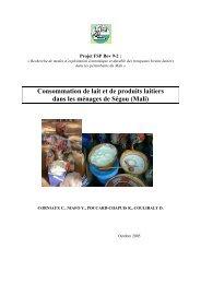 Consommation de lait et de produits laitiers dans les ... - REPOL