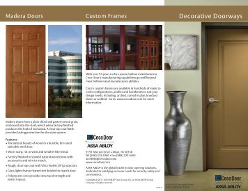 Decorative Doorways Brochure  - Ceco Door Products
