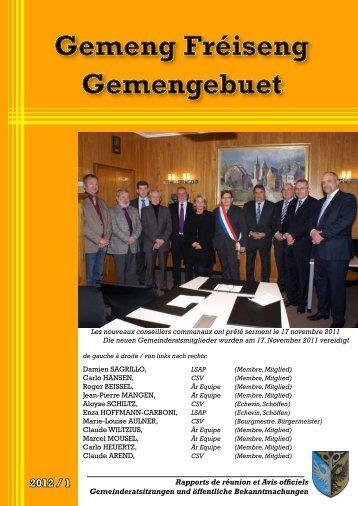 2012 / 1 - Administration-Communale-de-Frisange