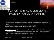 SEARCH FOR RADIO EMISSIONS FROM EXTRASOLAR PLANETS