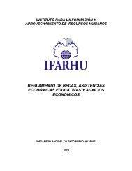 reglamento de becas, asistencias económicas educativas y ... - Ifarhu