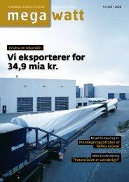 Vi eksporterer for 34,9 mia kr. Endnu et rekordår - Vindmølleindustrien