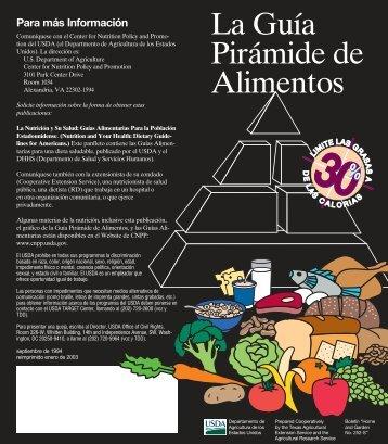La Guía Pirámide de Alimentos - Center for Nutrition Policy and ...