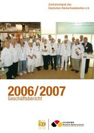 2006/2007 - Zentralverband des Deutschen Bäckerhandwerks e. V.