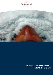 Resultatkontrakt 2011-2014 - Søfartsstyrelsen