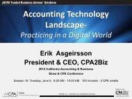 CPA2Biz 2012 Technology Survey - Flagg Management Inc