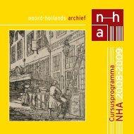 Cursusprogramma NHA 2008-2009 - Noord-Hollands Archief