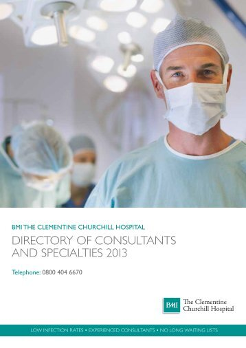 DIRECTORy OF CONSULTANTS AND ... - BMI Healthcare
