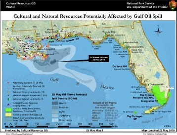 Cultural and Natural Resources Potentially Affected by Gulf Oil Spill