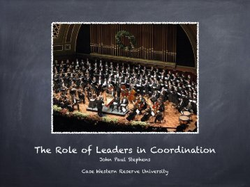 The Role of Leadership in Coordination - Relational Coordination ...