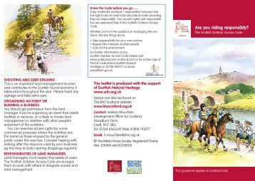 Are You Riding Responsibly? - British Horse Society Scotland