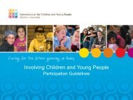 Involving Children and Young People - Commissioner for Children ...