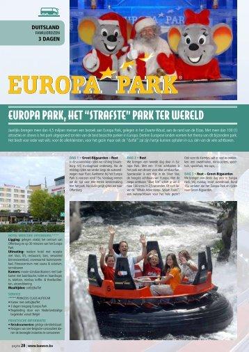 """EUROPA PARK, HET """"STRAFSTE"""" PARK TER WERELD - Lauwers"""