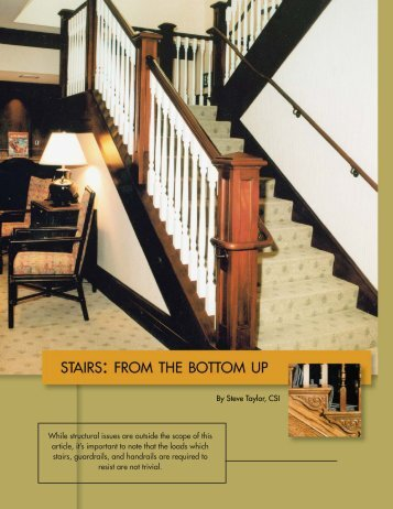 Stairs - Woodwork Institute